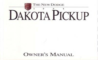 1995 Dodge Dakota Owners Manual User Guide Reference