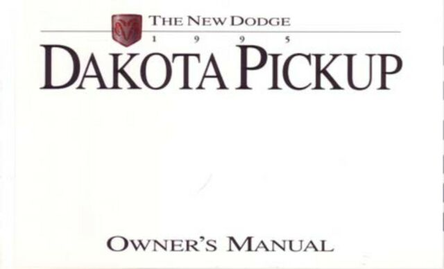 1995 Dodge Dakota Owners Manual User Guide Reference