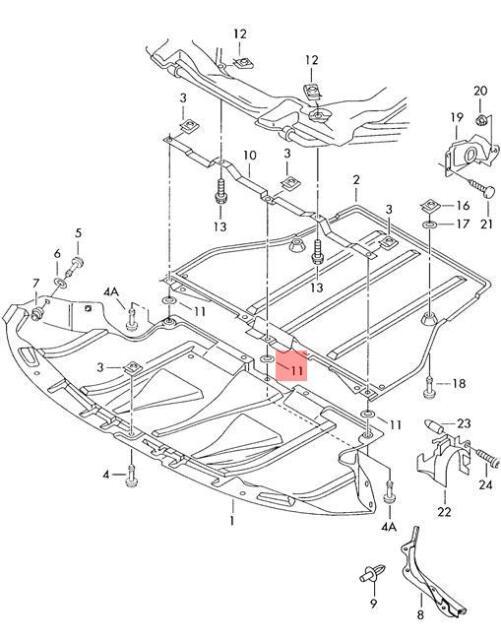 Genuine Retaining washer AUDI Audi 100 quattro 80 90 A4