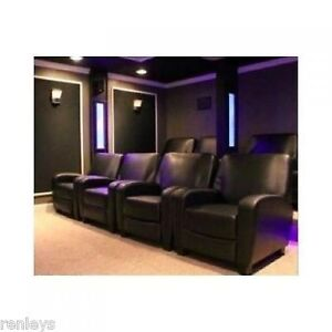movie theatre chairs for home discount desk theater recliner black faux leather club chair lounge image is loading