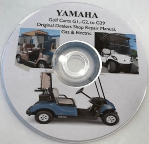 yamaha golf english 2000 jeep wrangler parts diagram cart g1 to g29 factory service repair shop maintenance image is loading