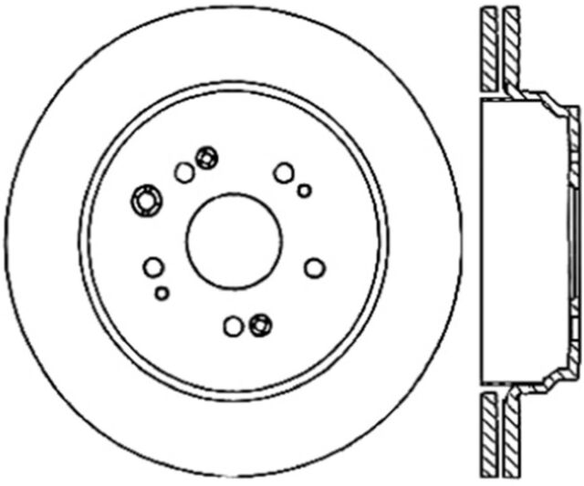 Disc Brake Rotor-Sport Cryo Drilled/Slotted Disc Rear Left