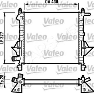 Engine Cooling Radiator VALEO Fits RENAULT Twingo