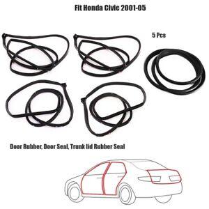 Full SET Door Rubber Seal Fit Honda Civic ES1/EM2 2001