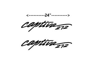 Captiva 272 Decal sticker Boat Logo emblem 2 color OE BLK