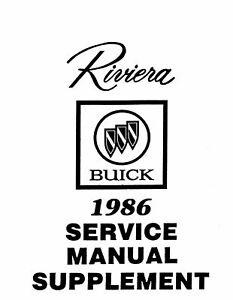 OEM Repair Maintenance Shop Manual Bound for Buick Riviera