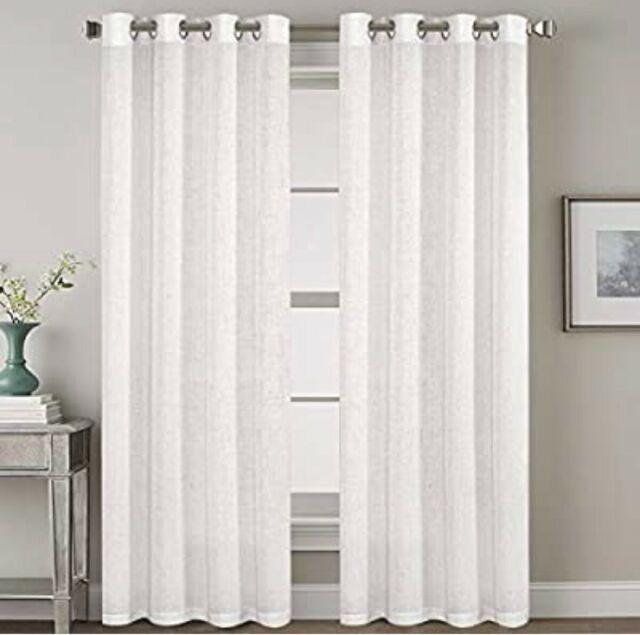 1 window curtain panel white light