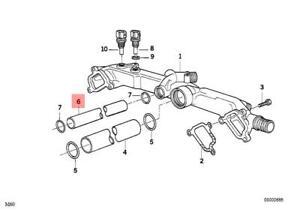 Genuine Engine Thermostat Pipe BMW Alpina X5 V8 E31 E32