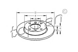 Front Axle Brake Discs x2 PCS Fits CITROEN Chanson Saxo