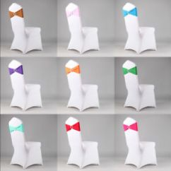 Stretch Chair Covers Swing Price In India 5 10 20 50 100 Spandex Cover Sash Bow Wedding Buckle Image Is Loading