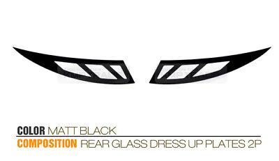 Rear Glass Sports Plate Mask Matt Black For HYUNDAI 2011