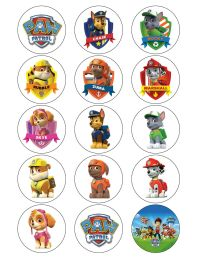 PAW PATROL CUPCAKE TOPPERS EDIBLE BIRTHDAY PARTY CUPCAKE