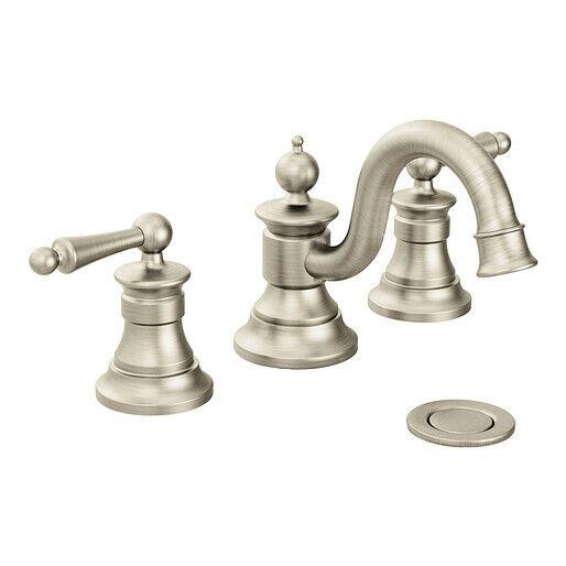 moen ts418bn waterhill bathroom faucet trim kit nickel