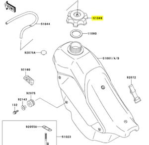 Kawasaki OEM Replacement Gas Cap 51049-1108 KX580 KX100