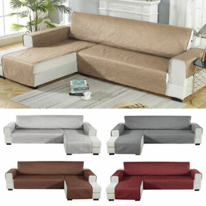 details about corner sofa cover couch settee covers l shape quilted throw anti protector