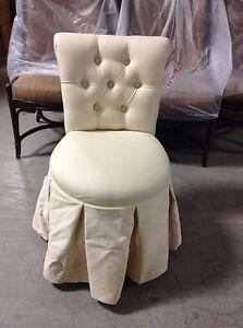 bathroom makeup chair modecraft new york barber frontgate sandra vanity rolling stool image is loading