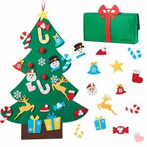 Diy Felt Christmas Tree With Detachable Decorations Kids Toddlers Wall Hanging Ebay