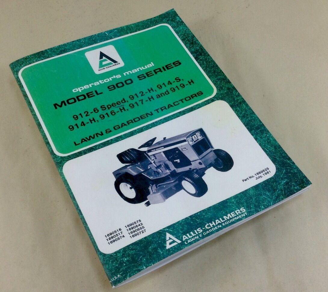 deutz 914 wiring diagram marcus 3 phase transformer allis chalmers 900 series 912 6 speed h lawn garden