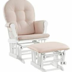 Pink Nursery Rocking Chair Club Recliners Baby Rocker Glider And Nursing Ottoman Stool Image Is Loading