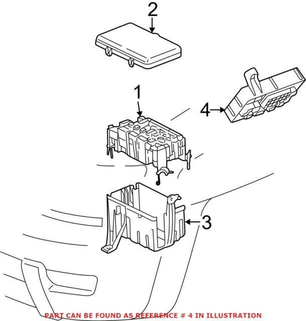 05-08 Toyota Tacoma OEM Electrical Fuse Relay Junction