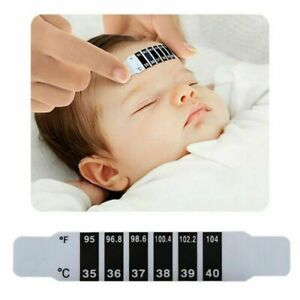 50 pcs Baby Thermometer Forehead Sticker Temperature Test ...