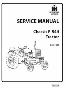 CASE International Harvester Chassis F-544 Tractor Service