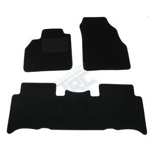details sur 3 tapis sol renault scenic 2 1 4 1 6 16s 1 5 1 9 dci moquette noir specifique