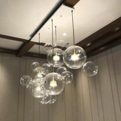 Ceiling Light Fixtures For Living Room What Are Good Colors A Led Glass Bubble Pendant Lamp Chandelier Fixture Image Is Loading