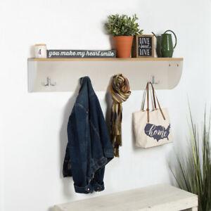 details about wall hat coat rack wooden storage unit shelf hanger door shelving display stand