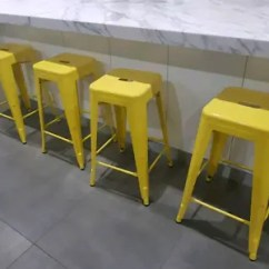 Stool Chair Fantastic Furniture Grey Stretch Covers 4 X Yellow Bar Stools Gumtree