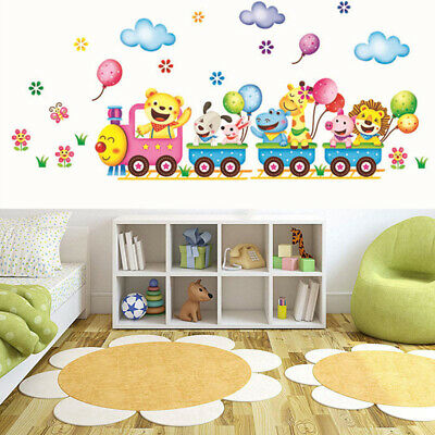 animals diy train wall