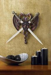 Fierce Dragon Sword Plaque Crest Fantasy Gothic Medieval Home Wall Decor 38011 eBay