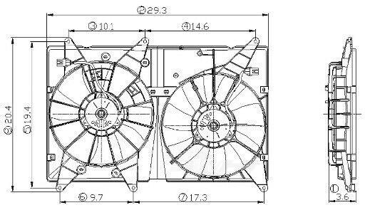Engine Cooling Fan Assembly Global 2811539 for sale online