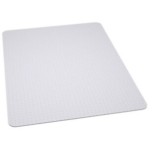 office chair mat 45 x 53 chairs for bad backs carpet protector 45'' 53'' clear vinyl chairmat | ebay