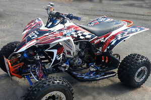 details about yfz 450 graphic kit 2003 2004 2005 2006 2007 2008 yamaha atv decal 3500 red
