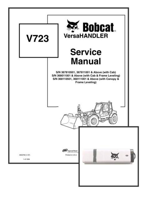 Bobcat V723 Telehandler Service Manual Shop Repair Book 1