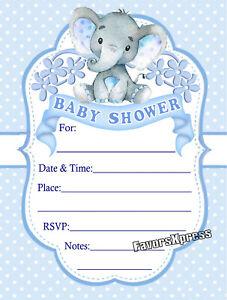 Baby Shower Invitations En Espanol : shower, invitations, espanol, ELEPHANT, SHOWER, INVITATIONS, W/ENVELOPES
