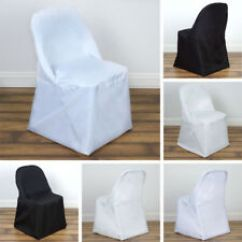 White Folding Chair Covers Ebay French Bergere And Ottoman 10 Wedding Party Decorations Polyester Round Dinner On Sale