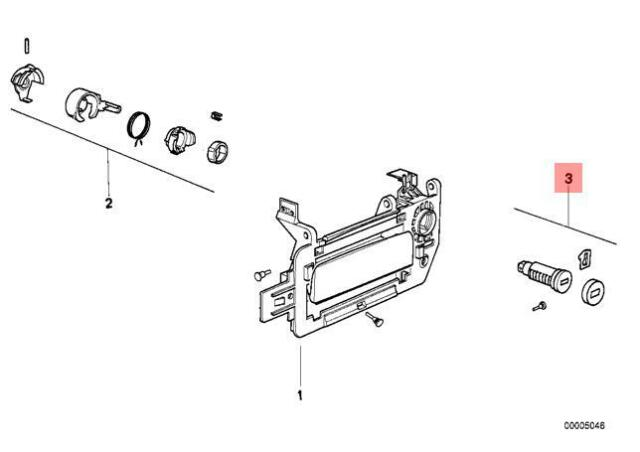 Genuine BMW 8 Series E31 Door Lock Cylinder Left Repair