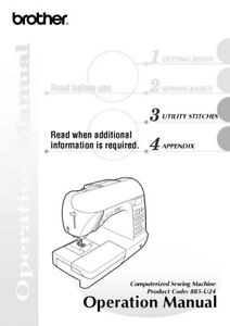 Brother NX-800 Sewing Machine Owners Instruction Manual