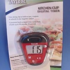 Taylor Kitchen Timer Top Of The Line Faucets Clip Digital 5875 Magnetic Color Red New Image Is Loading