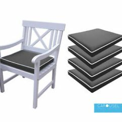 Garden Chair Cushions Tell City Chairs Memory Foam Cushion Seat Pad With Ties 9 Colours Ebay Image Is Loading