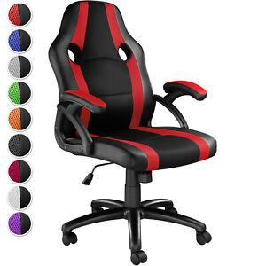details sur chaise fauteuil de bureau siege sport siege baquet gaming simili cuir pivotante