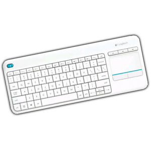 Tastatur Logitech K400 Plus Wireless Touch Keyboard weiß