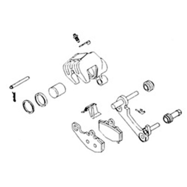 Brake Caliper Rebuild Kit For 1996 Honda GL1500SE Gold