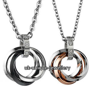 Silver & Rose Gold Infinity Rings Necklaces Chain Love NEW