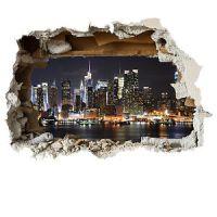 New York wall smash scenic wall sticker childrens bedroom ...