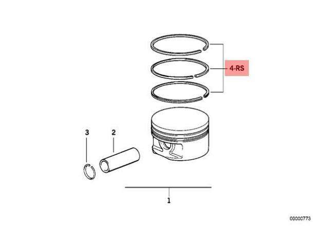 Genuine BMW 3 5 Series E30 E34 E36 Repair Kit 1x Piston