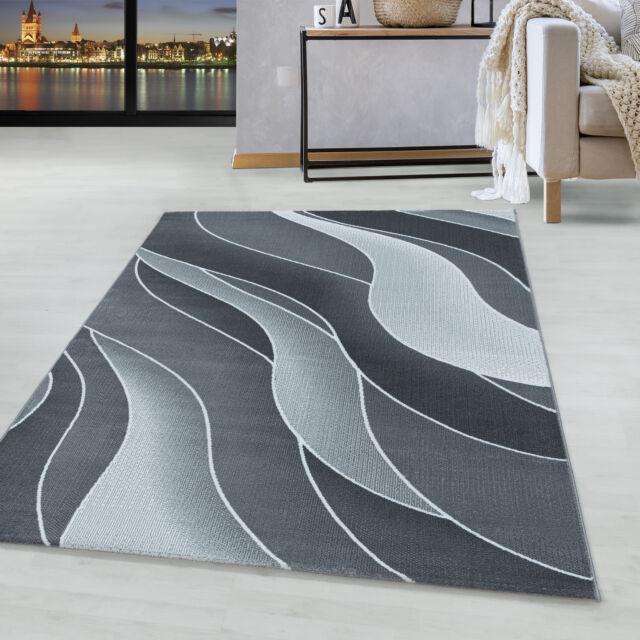 a poils ras tapis design tapis salon 3 d vagues motif souple poils gris