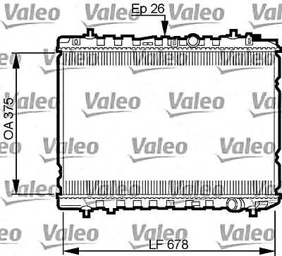 VALEO Engine Cooling Radiator Fits KIA Cerato Spectra
